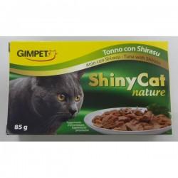 Shiny Cat 特級天然多汁 吞拿魚加白飯魚飯 貓罐頭 85g