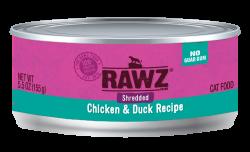 RAWZ 雞胸肉絲+鴨肉絲 主食罐 5.5oz x24