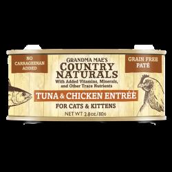 Country Naturals 無穀物 吞拿魚走地雞肉泥配方 貓罐頭 2.8oz