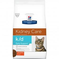 [凡購買處方用品, 訂單滿$500或以上可享免費送貨]  Hill's k/d Early Support 早期腎臟支援 獸醫配方 (雞味) 貓乾糧 4磅
