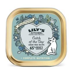 Lily's Kitchen 海鮮雜燴餐 貓主食罐 85g (淺藍色)