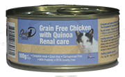Gold-D - 貓罐頭 雞肉+藜麥 (腎病貓專用) 100g
