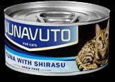 Nunavuto 吞拿魚白飯魚貓罐 80g