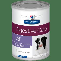 [凡購買處方用品, 訂單滿$500或以上可享免費送貨]  Hill's i/d 消化系統護理 (低脂) 厡味 處方狗罐頭 13oz x12罐 原箱優惠