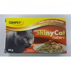 Shiny Cat 特級天然多汁 雞肉塊加蝦飯  貓罐頭 85g