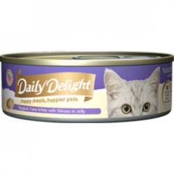 Daily Delight (DD-55) 白鰹吞拿魚+銀魚 80g x24罐