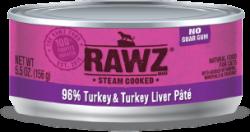 RAWZ 96% 火雞肉及火雞肝 全貓罐頭 156g