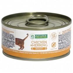 Nature's Protection 主食貓罐頭 – 雞肉、鯡魚 (全貓用) 100g