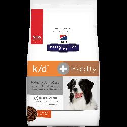 [凡購買處方用品, 訂單滿$500或以上可享免費送貨]  Hill's Prescription Diet - k/d + Mobility 腎臟+關節護理配方狗糧 8.5磅