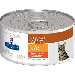 [凡購買處方用品, 訂單滿$500或以上可享免費送貨]  Hill's k/d 腎臟保健 (雞肉口味)  處方貓罐頭 5.5oz x24罐 原箱優惠