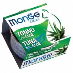 MONGE 清新水果系列 - 吞拿魚蘆薈(幼貓適用) 貓罐頭 80g
