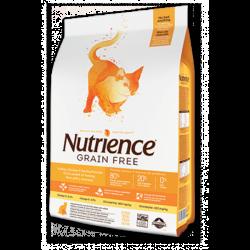 Nutrience 紐翠斯 無殼物火雞+雞+鯡魚 全貓糧 2.5kg (5.5lb)  (橙白)
