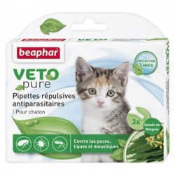 Beaphar VETO Nature 自然滴劑 (1盒3支 - 幼貓)