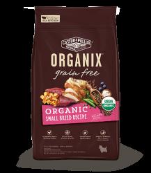ORGANIX 無穀物全犬糧 – 有機小型犬配方 4lb