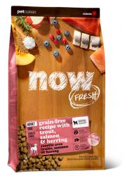 NOW FRESH!™ 全犬種 無穀物成年魚肉狗糧配方 (鱒魚+三文魚+希靈魚) 22磅