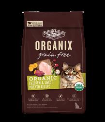 ORGANIX  無穀物全貓糧 – 有機雞肉甜薯配方 10lb