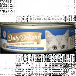 Daily Delight (DD-53) 白鰹吞拿魚+沙丁魚 80g  x24罐