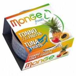 MONGE 清新水果系列 - 吞拿魚+雜果 貓罐頭  80g