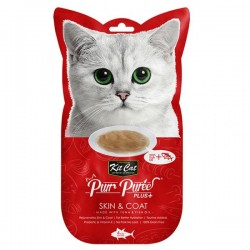 Kit Cat Purr Puree Plus+ 魚油吞拿魚醬 (皮膚護理) 貓小食 60g (15g x4小包) <紅色>