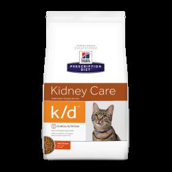 [凡購買處方用品, 訂單滿$500或以上可享免費送貨]  Hill's k/d 腎臟配方 獸醫配方 (雞味) 貓乾糧 4磅