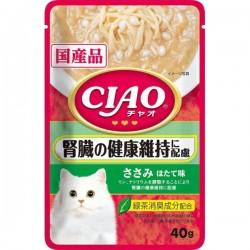 CIAO 雞肉。帶子味(腎臟健康) 貓濕包 40g IC-322