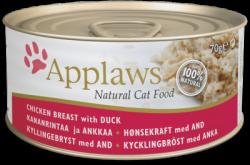 Applaws 雞胸肉+鴨肉 天然貓罐頭 156g  x24罐優惠