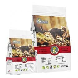 <<限時優惠! 數量有限, 售完即止>> Harlow Blend 哈樂楓葉 全貓種雞、三文魚、低鎂配方10磅 x4包優惠