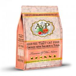 AVP愛威堡 鮮肉無榖蔬果天然全貓雞肉三文吞拿魚糧 5磅