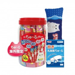 <<海外限定>> Ciao 糊仔小食桶裝 TSC-11 (內含50小包 ,隨桶附送Ciao玩具)