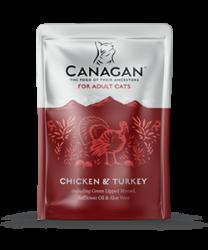 Canagan 原之選 無穀物成貓 雞肉+火雞配方湯包 85g x8包優惠