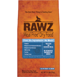 RAWZ 無穀物低溫烘焙三文魚, 脫水雞肉及白魚肉狗糧 3.5lb