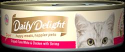 Daily Delight DD45 白鰹吞拿魚+雞肉+鮮蝦 80g x24罐優惠