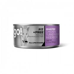 GO! 健康能量系列 - 無穀物 雞肉+火雞+鴨肉肉醬罐頭 5.5oz