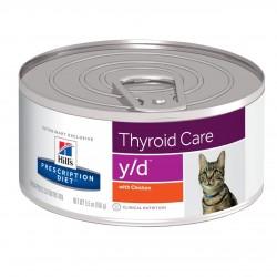 Hill's Prescription Diet - y/d 貓甲狀腺健康 5.5oz x24罐優惠