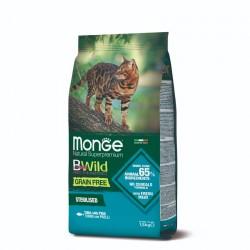 Monge 天然貓糧  無穀物吞拿魚豌豆成貓配方(絕育貓專用) 貓乾糧 1.5kg