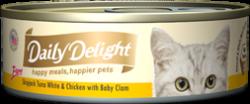 Daily Delight DD41 白鰹吞拿魚+雞肉+BB蜆 80g