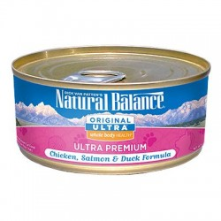 Natural Balance 特級雞肉、三文魚和鴨肉配方 貓罐頭 6oz