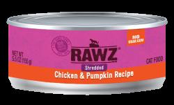 RAWZ 雞胸肉絲+南瓜 主食罐 5.5oz