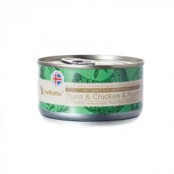 Astkatta 增強活力系列 - 白鰹吞拿魚+雞肉及白蝦 主食貓罐頭 80g (綠色) x24罐優惠