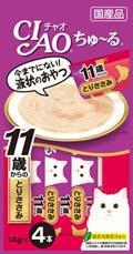 Ciao 4SC-78 11+ 鄂霍次克海帶子 雞肉+木魚醬 14g (14gx4) x2包優惠