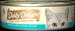 Daily Delight DD46 白鰹吞拿魚+雞肉+魷魚 80g