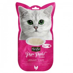 Kit Cat Purr Puree Plus+ 蔓越莓雞肉醬 (尿道護理) 貓小食 60g (15g x4小包) <桃紅色>