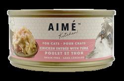 Aimé Kitchen 雞肉配吞拿魚Chicken with Tuna 貓罐 85g x24罐優惠