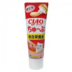 CIAO 貓貓食用吞拿魚醬 綜合營養食(牙膏裝)CS-155 80g