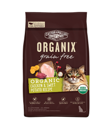 ORGANIX  無穀物全貓糧 – 有機雞肉甜薯配方 3lb