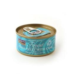 Fish4Cats 吞拿魚塊+蟹肉貓罐頭 70g