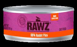 RAWZ 96% 兔肉配方 全貓罐頭 156g x24罐優惠