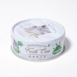 Fresh Can 抗老化機能 肉泥狀 成貓-吞拿魚 80g (綠色) x24罐優惠