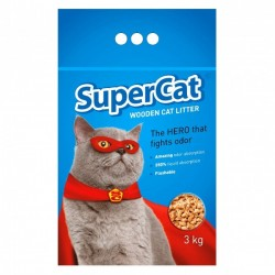 Super Cat Wooden Cat Litter 全天然松木貓砂 3kg