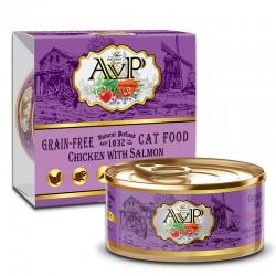 AVP 雞肉+三文魚 主食mousse 貓罐頭 85g